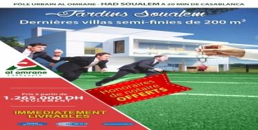 VILLAS SEMI-FINIES JARDINS SOUALEM