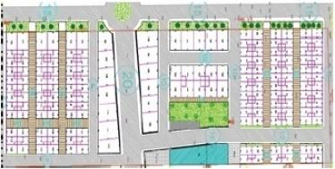 Plan de masse du lotissement Al Manar 1 Ext