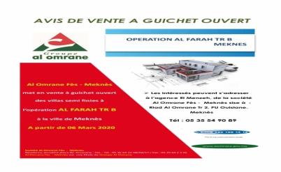 OPERATION AL FARAH TR B à MEKNES