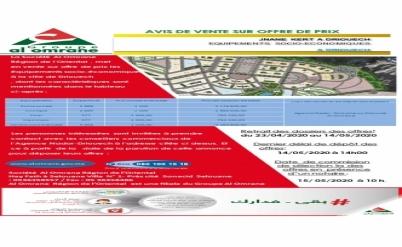 Vente sur offre de prix des équipements socio-économiques  à la ville de Driouech