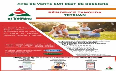 Avis de vente Résidence Tamouda
