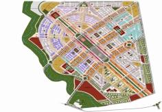 plan du Pôle urbain riad al omrane